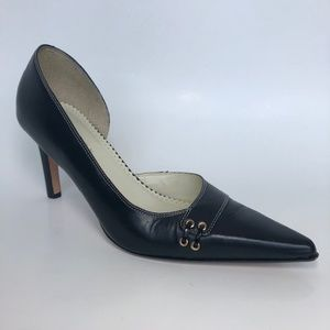 Lauren By Ralph Lauren Black Leather Lexi Size 8.5